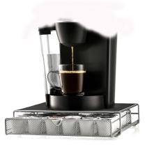 K-Cup Organizer Coffee Pod Drawer Espresso K Cup Pods Storage Great Quality Single Serve Capsules Holder Holds Keurig Brewing Machine 36 K Cups Rack Black