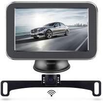 Wireless Backup Camera, Backup Camera, LASTBUS Anti-Theft Rear View 5 Inch Monitor and Waterproof Night Vision Reversing Camera for Car, Van, Truck, SUV, RV, Pickup