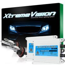 Xtremevision 55W AC Xenon HID Lights with Premium Slim AC Ballast - 9007 10000K - 10K Dark Blue - 2 Year Warranty