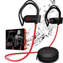 Villain Sport Headphones | Running Headphones | Workout Headphones | Gym Headphones | Wireless Bluetooth Earbuds IPX7 HiFi HD Sound with Thumping Bass