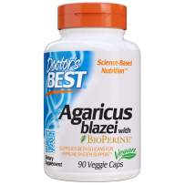 Doctor's Best Agaricus Blazei, Non-GMO, Vegan, Gluten Free, Soy Free, 400 Mg 90 Veggie Caps