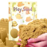 Dino Sand Refill Pack-3 Pound Moldable and Non Stick Moving Sand in a Resealable Bag Indoor Outdoor Activity Creative Educational Toys Sand (Primary Color)