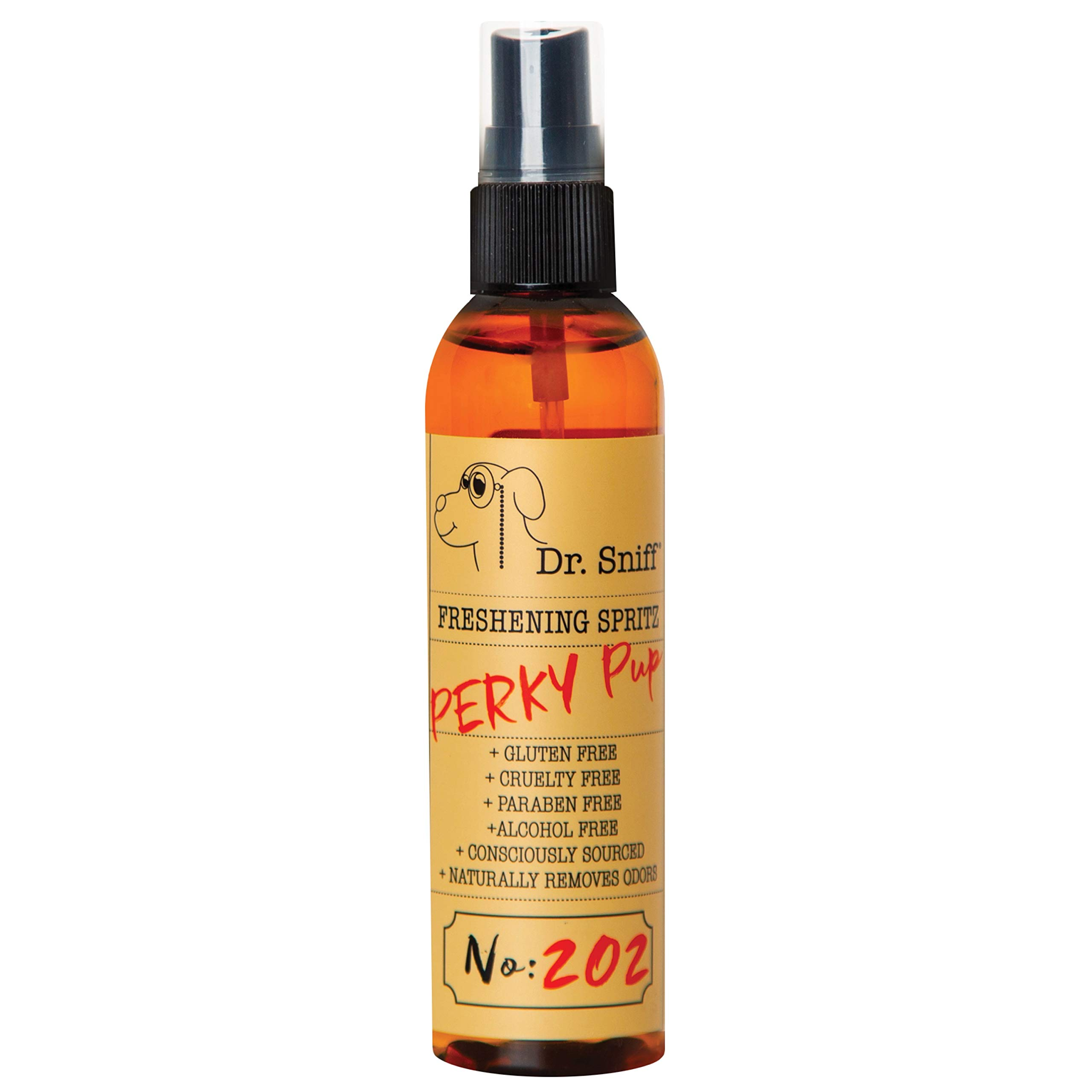 Dr. Sniff Freshening Dog Spritz Spray Small Batch & Made by Hand in The USA with Organic Ingredients | Alcohol-Free, Cruelty-Free, Paraben-Free, Sulfate-Free | 4 oz.