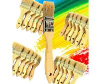 PANCLUB Chip Paint Brushes Bulk 1 inch   60 Pack of Paint Brush for Home Wall Trim House   for Paint, Gesso, Glues, Varnishes, Stains, and Acrylics