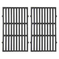 "VICOOL 7637 17.5"" Grill Cooking Grates Cast Iron Grid Replacement for Weber Spirit 200 Series, Spirit E-210, Spirit S-210 Gas Grills with Front Mounted Control Panel, Set of 2, hyG637"