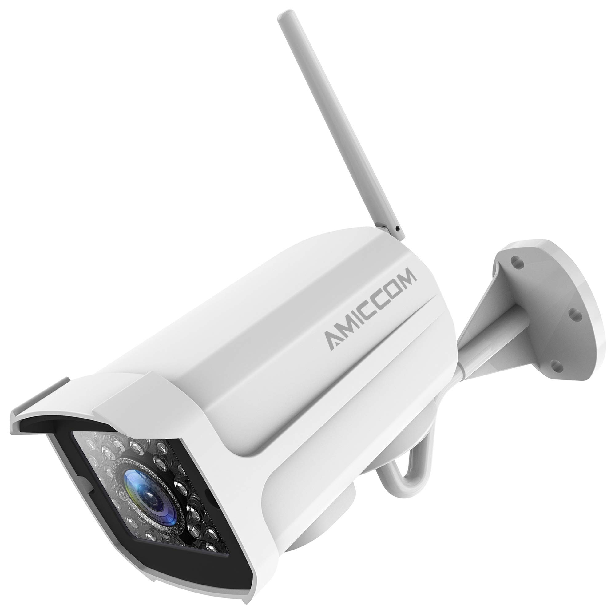 Outdoor Security Camera, 1080P WiFi Camera Surveillance Cameras, IP Camera with Two-Way Audio, IP66 Waterproof, Night Vision, Motion Detection, Activity Alert, Deterrent Alarm - iOS, Android