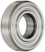 """SKF RLS 6-2Z Radial Bearing, Single Row, Deep Groove Design, ABEC 1 Precision, Double Shielded, Non-Contact, Normal Clearance, Steel Cage, Inch, 3/4"""" Bore, 1-7/8"""" OD, 9/16"""" Width"""