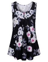 Tanst Sky Women's Summer Sleeveless Scoop Neck Shirts Loose Flowy Tunics Tops