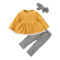 Infant Baby Girl Clothes Long Sleeve Outfits Toddler Girl Pants Clothes Sets