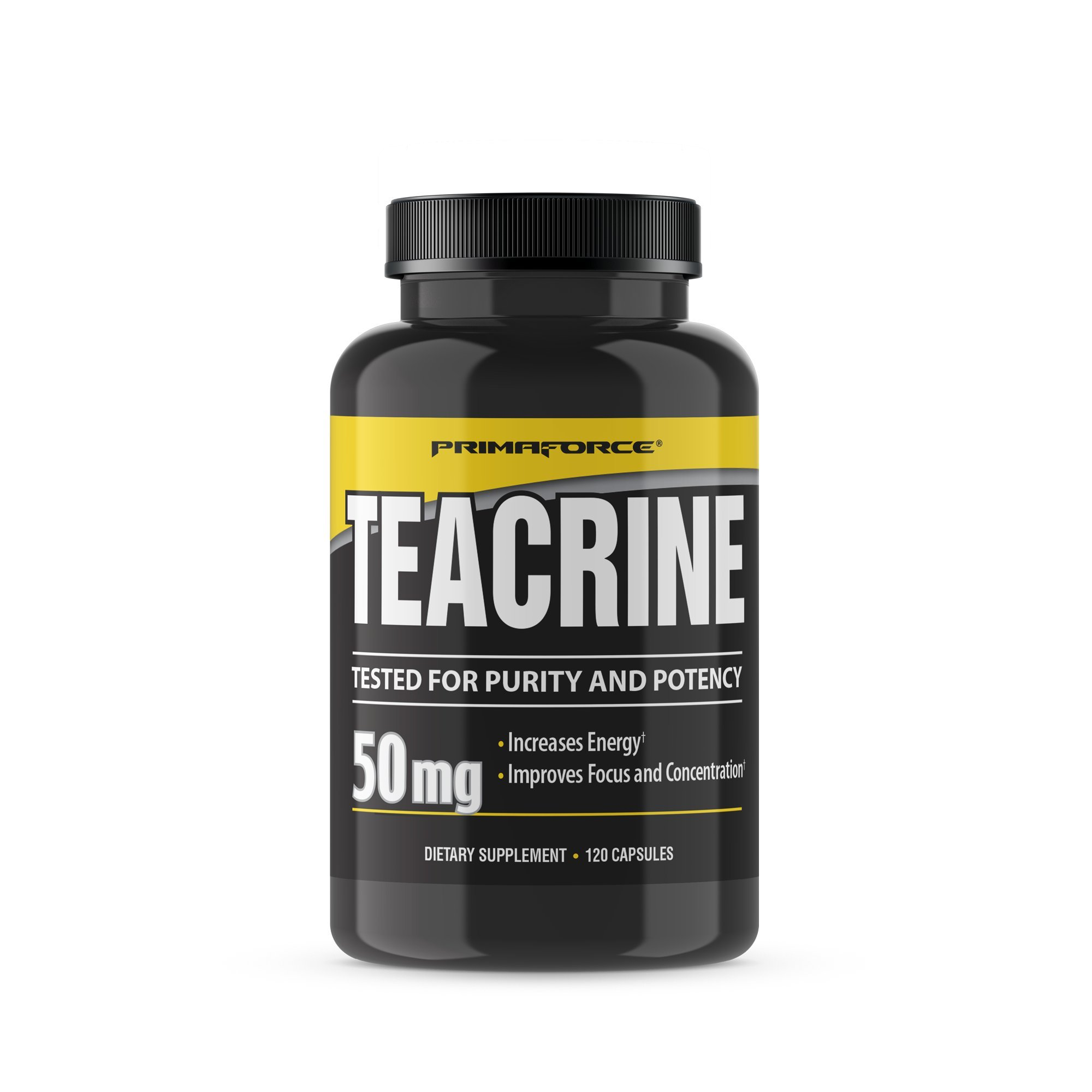 PrimaForce Teacrine Supplement, 120 Capsules – Increases Energy / Improves Focus and Concentration