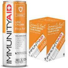 IMMUNITYAID Wellness Blend | With Echinacea, Zinc, Astragalus & Vitamin C | Only 45 Calories | 100% Clean, Vegan & Gluten-Free | No Artificial Flavors, Sodium or Caffeine | 12-oz. cans (Pack of 4)