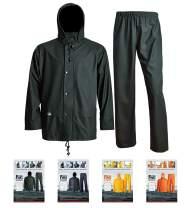 Waterproof Rain Jacket Pants with Hood for Men Women Rain Suits Foul Weather Gear 3-Pieces Heavy Duty Sets