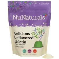 NuNaturals Premium Unflavored Gelatin Powder, Grass-Fed, Pasture-Raised, Paleo, Pure Beef Gelatin Powder, Sugar Free (1 lb)