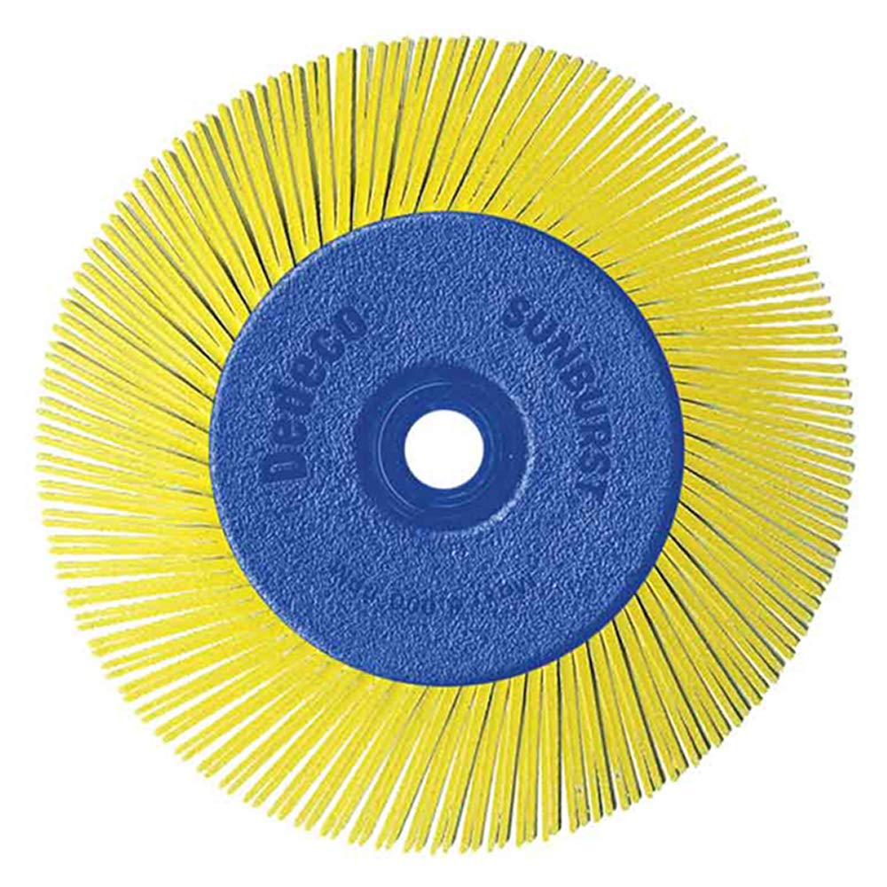 """Dedeco Sunburst - 6"""" TA Radial Bristle Discs 1/2"""" Arbor - Industrial Thermoplastic Rotary Cleaning and Polishing Tool, Coarse 80 Grit (1 Pack)"""