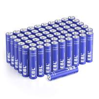 EBL Alkaline AAA Batteries - 1.5V Triple A Long-Lasting Alkaline Battery with 10-Year Shelf Life - Ultra Fit for Household and Business - Pack of 60