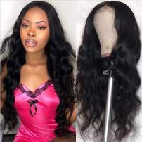 Beauty Forever Wigs 13x4 Body Wave Lace Front Wig 100% Brazilian Virgin Human Hair Wig for Black Women Pre Plucked with Baby Hair Natural Black 150% Density (14 Inch)