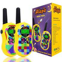 Alapa Walkie Talkies for Kids Voice Activated Walkie Talkies for Adults and Kids 3 Mile Range 2 Way Radio Walkie Talkies Built in Flash Light Camo Exterior Vox (2 Pack)