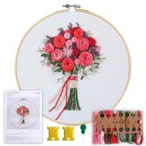 MEIAN Cross Stitch Starter Kits Beginner Adult, Cross Stitch Patterns Starter Kits for Kids