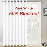 Yakamok Wide Thermal Patio Door Curtain Panel, Sliding Door Insulated Curtains,Vertical Blinds with Grommets,Outside Curtain for Patio & Hall Room(Pure White, 100 by 96 Inches,1 Panel)