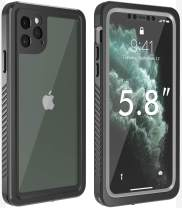 KUMEDA Clear Case for iPhone 11 Pro Case, Full Body with Built-in Screen Protector Heavy Duty Protection Shockproof Rugged Cover for iPhone 11 Pro 5.8 Inch 2019 Release