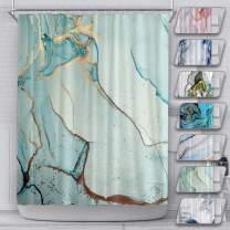 LEMOISTARS Shower Curtain for Bathroom with 12 Hooks Polyester Fabric Machine Washable Waterproof Shower Curtains 72 x 72 Inch