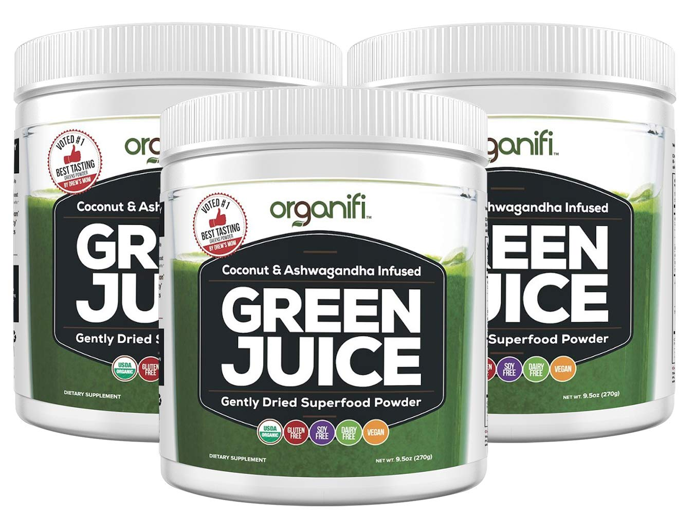 Organifi: Green Juice - Organic Superfood Supplement Powder - 30 Day Supply - USDA Certified Organic Vegan Greens - Hydrates and Revitalizes - Boost Immune System - Support Relaxation and Sleep