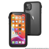 Waterproof Case for iPhone 11 with Lanyard, Clear Back, Military Grade Quality, 33ft Waterproof, 6.6ft Drop Proof, Built-in Screen Protector, Retail Packaging - Stealth Black