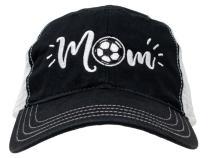 Ann Arbor T-shirt Co. Soccer Mom Hat | Cute Team Color Fan Cap for Women Black Red Blue Green Purple