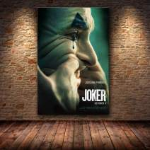 TYG Canvas Wall Art, Wall Painting 2019 Joker Movie Joaquin Phoenix DC Classic Prints on Canvas Modern Artwork Decor Picture for Living Room/Bedroom/Office Stretched and Framed Ready to Hang 1PC