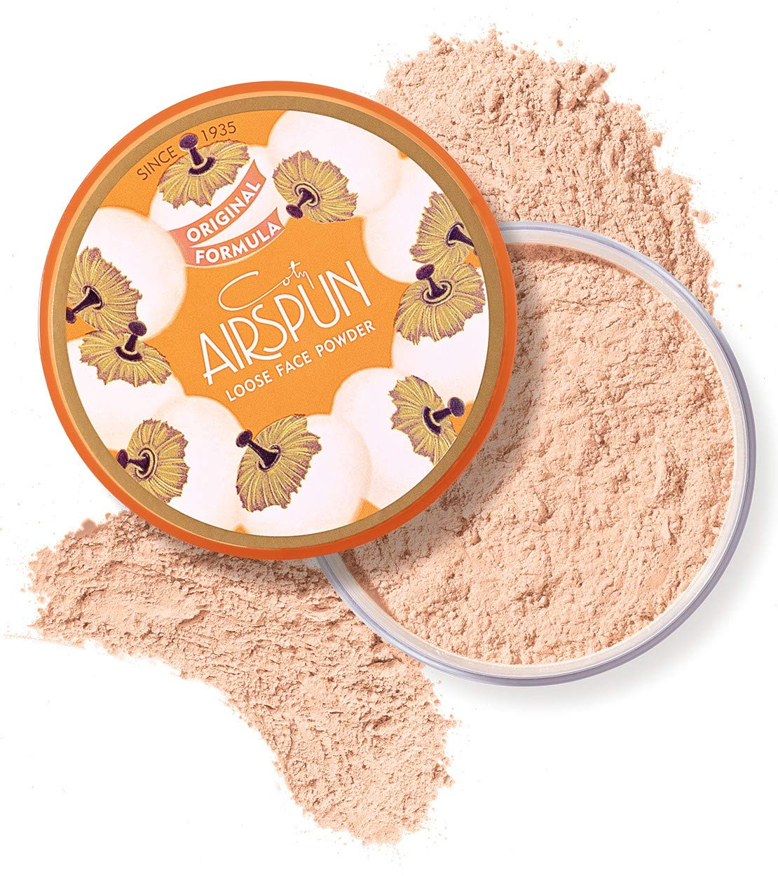 Coty Airspun 38807032000 Loose Face Powder 2.3 oz. Honey Beige Light Peach Tone Loose Face Powder, for Setting or Foundation, Lightweight, Long Lasting, Pack of 1