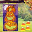 JOYIN Halloween-Themed Pumpkin Toss Game with 4 Candy Corn Design Bean Bags Party Favor Supplies, Games Pack and Decoration for Kids