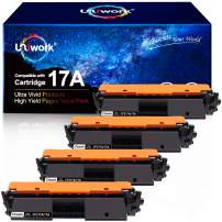 Uniwork Compatible Toner Cartridge Replacement for HP 17A CF217A use for Laserjet Pro M102w M130fw, Laserjet Pro MFP M130fw M130nw M130fn M130a Printer, 4 Black (with Chip)