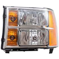 Brock Replacement Driver Headlight Compatible with 2007-2014 Sierra Pickup Truck 20980241