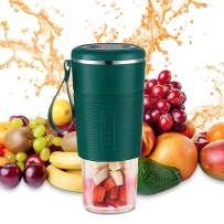 PRATIQUE Portable Blender Mini Personal Blender Shakes and Smoothies Maker Small Juice Blender made of High boron glass 300ml/10oz USB Rechargeable Sport/Gym/Office/Study/Travel (green)