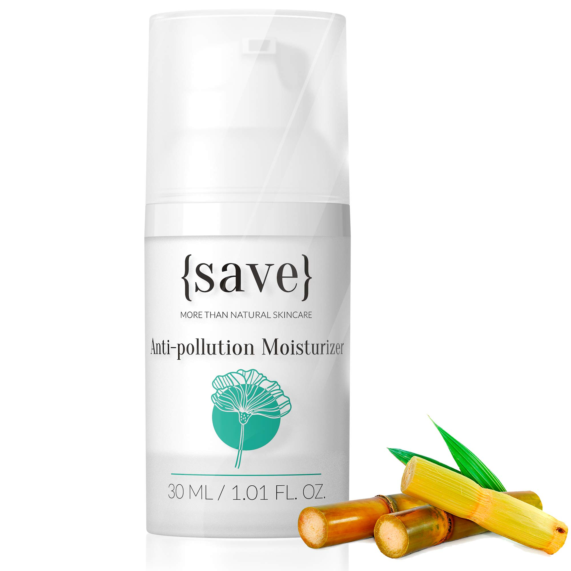 Anti-Aging Face Cream with Anti-Pollution Protection Against Skin Damage Natural Moisturizer for Sensitive Face Skin Fragrance Free 1.01 fl. oz.