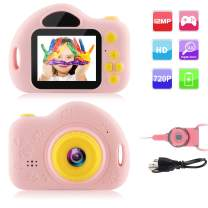 GKTZ Kids Camera Small Camcorder Digital Cameras with 2 inch Screen for Children ,Ideal Gift Toys for 3-8 Year Old Boys Girls - Pink