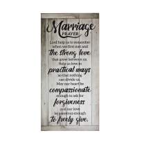Marriage Plaque - Rustic Wood Sign, Unique Wedding Gifts, Bridal Shower Gifts, and Engagement Gifts for Couple, Bride, Husband and Wife - Newlywed Gifts