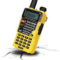 BAOFENG UV Plus Two Way Radio, Long Range for Adults Rechargeable with Earpiece, Walkie Talkie for Outdoors, Qualette Series (Yellow)