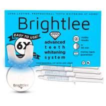 Brightlee Teeth Whitening Gel Kit with LED Light - For Brighter Tooth Whitening Long Lasting for 6 Shades Whiter in 2 Days, Better than White Strips plus UV Light - New for 2020