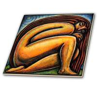 3dRose ct_21206_4 Moonlight Meditation Spiritual Women Woman-Ceramic Tile, 12-Inch
