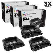 LD Compatible Toner Cartridge Replacement for HP 64A CC364A (Black, 3-Pack)