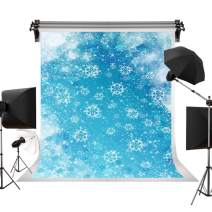 Kate 5x7ft/1.5m(W) x2.2m(H) Holiday Blue Backdrops Winter Snowflakes Backgrounds Seamless Fantastic Backdrop Children Photo Photography Video Studio Props