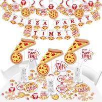 Big Dot of Happiness Pizza Party Time - Baby Shower or Birthday Party Supplies - Banner Decoration Kit - Fundle Bundle