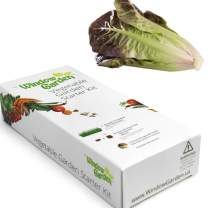 Window Garden - Lettuce Vegetable Starter Kit - Grow Your Own Food. Germinate Seeds on Your Windowsill Then Move to Patio Planter or Veggie Patch. Mini Greenhouse System - Easy. (Romaine Lettuce)