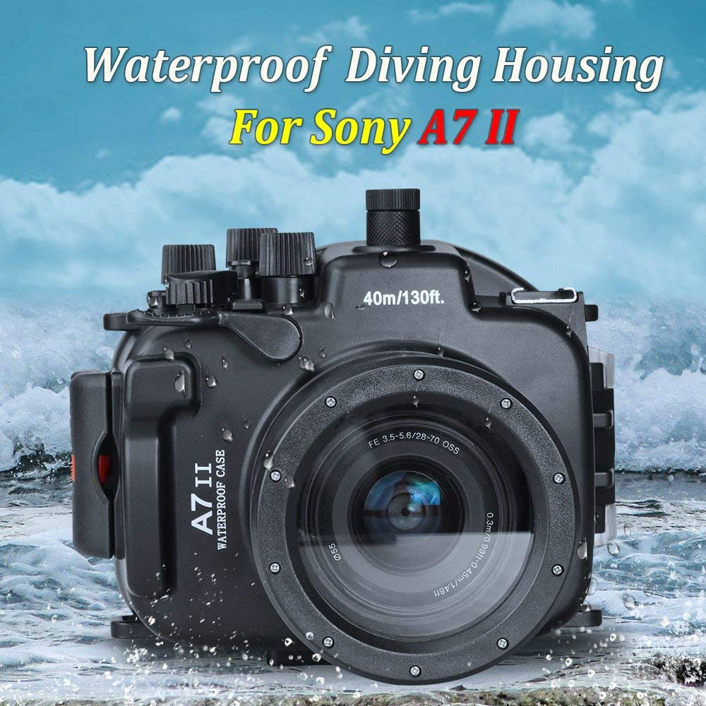 Seafrogs Waterproof Housing for Sony A7II Camera Scuba Diving Water Sport Swimming Drifting Surfing Camera Protective Case Bag
