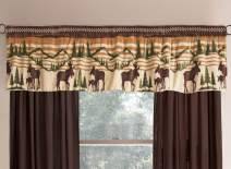 BLACK FOREST DECOR Mountain Wildlife Plush Valance