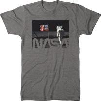 NASA Astronaut On The Moon Men's Modern Fit Tri-Blend T-Shirt