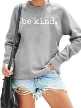 Be Kind Shirt Women Funny Graphic T-Shirt Long Sleeve Sweatshirt Cute Pullover Lightweight Fall Tops