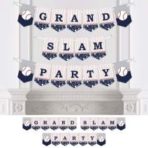 Big Dot of Happiness Batter Up - Baseball - Baby Shower or Birthday Party Bunting Banner - Party Decorations - Grand Slam Party