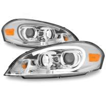 Fits 06-13 Chevy Impala | 14-16 Impala Limited | 06-07 Monte Carlo Light Tube Projector Front Headlamps Pair